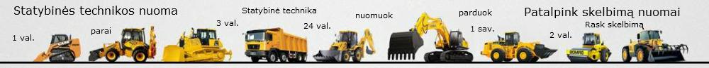 statybinės technikos nuoma